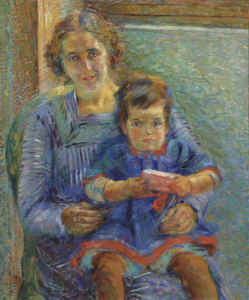 Umberto Boccioni-Ritratto Di Betty E Nora Baer-1909