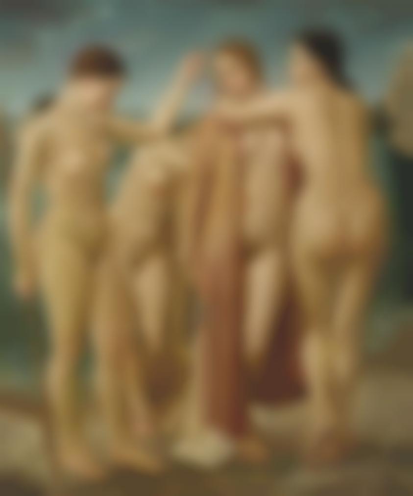 Ubaldo Oppi - Giovani Donne Al Mare-1926