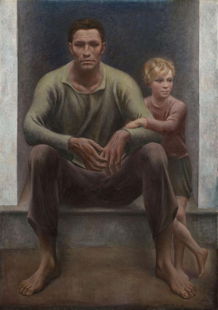 Ubaldo Oppi - Contadino A Sera-1931