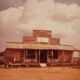 William Eggleston-Untitled (Rural Gas Station With Pump)-1970