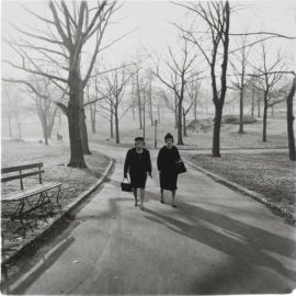 Diane Arbus-Two Ladies Walking In Central Park, N.Y.C.-1962