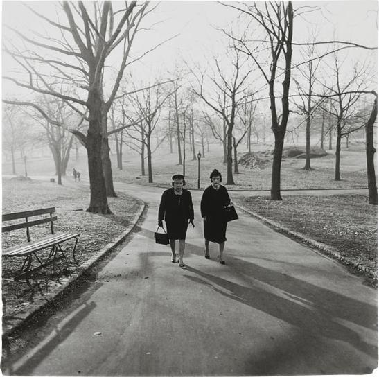 Diane Arbus-Two Ladies Walking In Central Park, N.Y.C.-1962