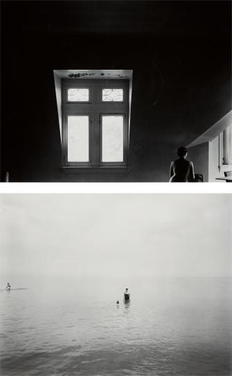 Harry Callahan-Eleanor In The Attic, 1948 And Eleanor And Barbara, Lake Michigan-1953