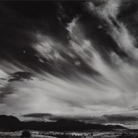 Ansel Adams-Moon And Clouds, Northern California-1959