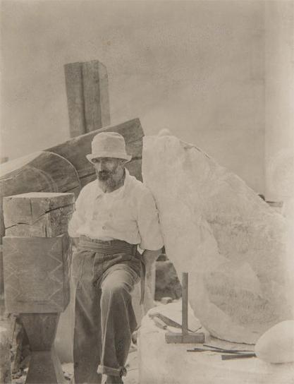 Constantin Brancusi-Self-Portrait In His Studio-1921