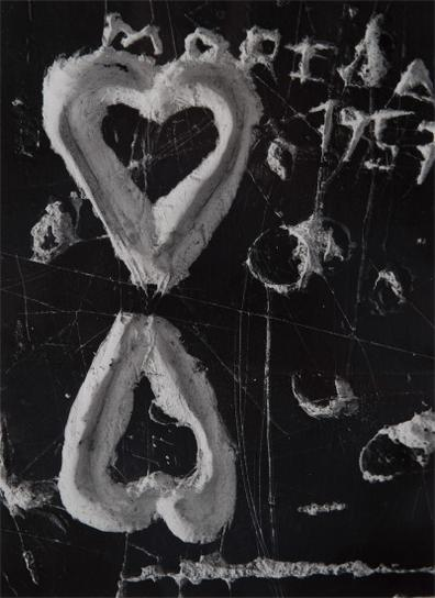 Brassai-Graffiti (Les Deux Coeurs), Paris-1957
