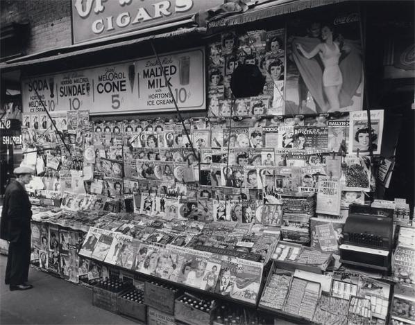 Berenice Abbott-Newsstand, 32Nd Street And 3Rd Avenue-1935