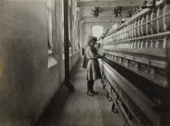 Lewis Wickes Hine-One Of The Little Spinners Working In A South Carolina Cotton Mill-1908