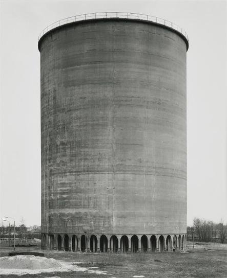 Bernd and Hilla Becher-Cooling Tower, Steelplant,Eisenhuttenstadt, East Germany-1994
