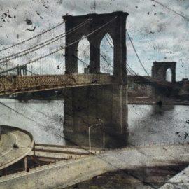 Abelardo Morell-Tent-Camera Image On Ground: Rooftop View Of The Brooklyn Bridge-2010