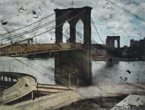 Abelardo Morell-Tent-Camera Image On Ground: Rooftop View Of The Brooklyn Bridge-2010