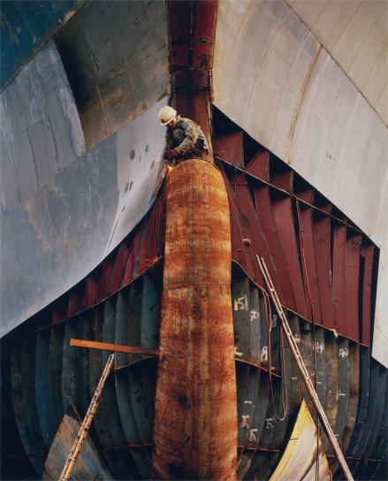 Edward Burtynsky-Shipyard #18, Qili Port, Zhejiang Province, China-2005