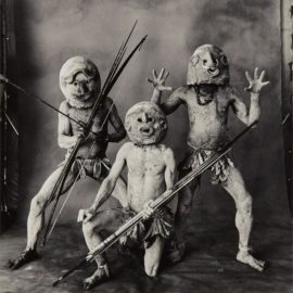 Irving Penn-Three Asaro Mud Men, New Guinea-1970