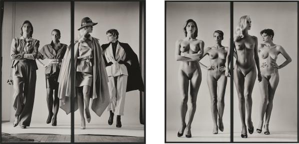 Helmut Newton-Sie Kommen, Paris (Dressed And Naked)-1981