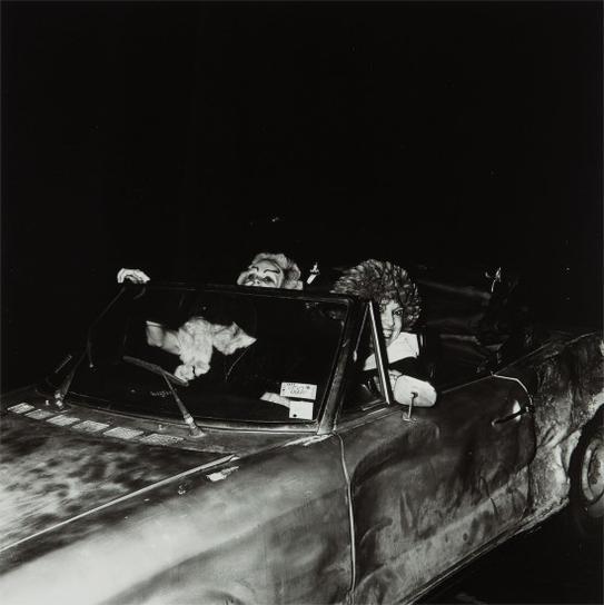 Peter Hujar-Two Queens In A Car, Halloween-1977