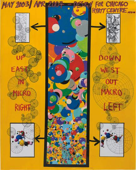 Keith Tyson-Studio Wall Drawing: May 2003/ Apr 2004 - Designs For Chicago Hyatt Centre-2005