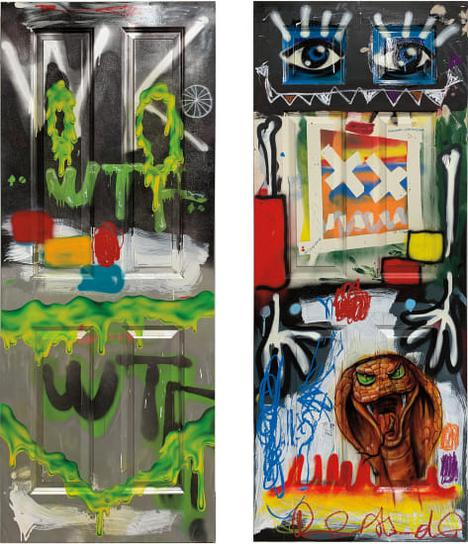 Barry Reigate With The Kids Of Carney'S Community - Two Works: I) Slime Wtf; II) Figure Snake Door-2019