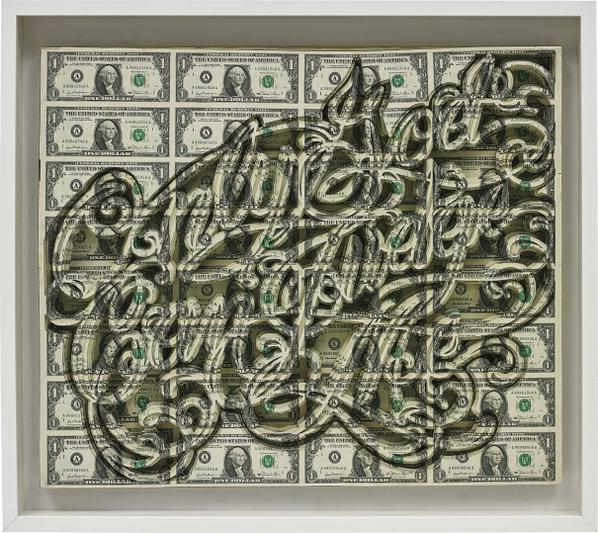 Scott Campbell-Tableau - Only God Can Judge Me In Dollars-2010