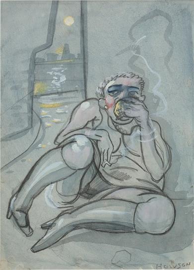 Peter Howson-Sobbing Girl-1989