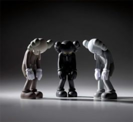 KAWS-Three Works: (I) Small Lie (Brown); (II) Small Lie (Black); (III) Small Lie (Grey)-2017