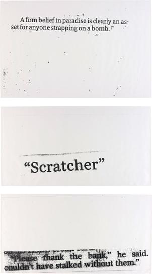 Nate Lowman-Three Works: (I) Scratcher; (II) Strapping On; (III) Thank The Bank-2004