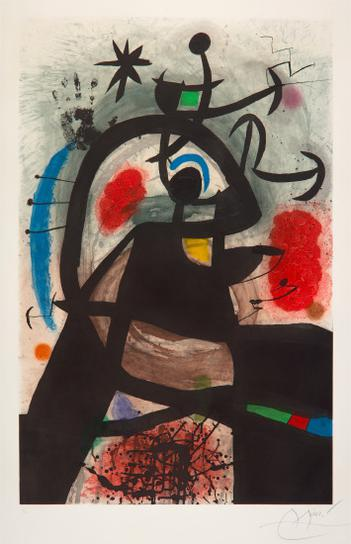 Joan Miro-Le Permissionnaire (Soldier On Leave)-1974