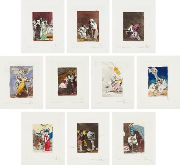 Salvador Dali-Les Caprices De Goya De Dali (Dalis Caprichos By Goya): 10 Plates-1977