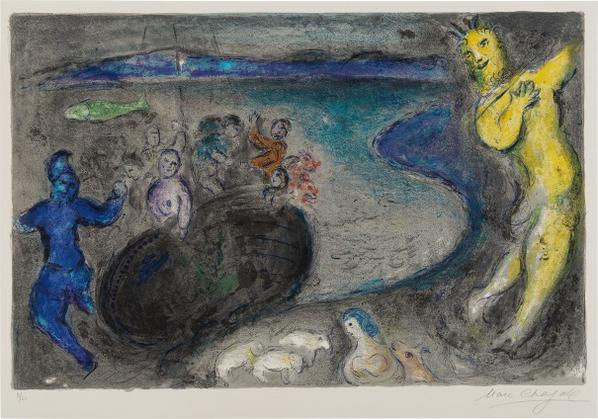 Marc Chagall-Songe Du Capitaine Bryaxis (Dream Of Captain Bryaxis), Plate 21 From Daphnis Et Chloe-1961
