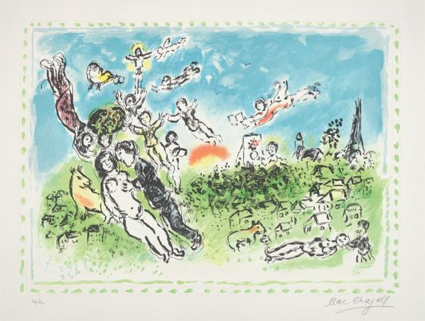 Marc Chagall-Songe Dete (Summers Dream)-1983