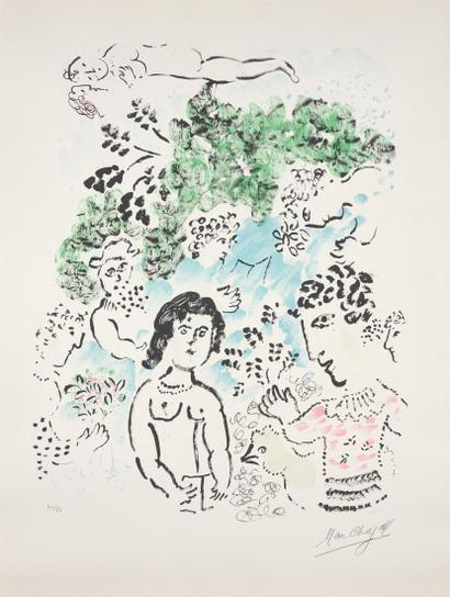 Marc Chagall-La Branche Verte (The Green Branch)-1984