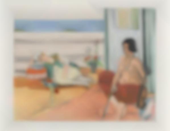 Henri Matisse-After Henri Matisse - Odalisque Sur La Terrasse (Odalisque On The Terrace)-1922