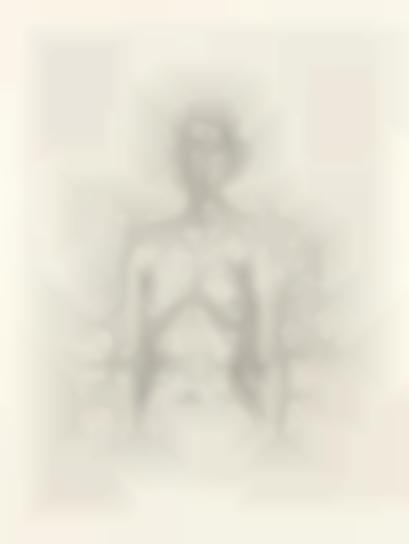 Alberto Giacometti-Nude With Flowers-1960