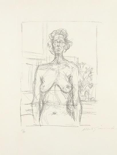 Alberto Giacometti-Nude With Flowers-1960