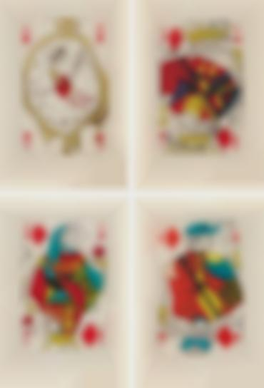 Salvador Dali-Playing Cards: Ace Of Diamonds; King Of Diamonds; Queen Of Diamonds; And Jack Of Diamonds, From Playing-Cards-1972