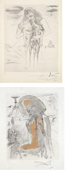 Salvador Dali-Kronos; And Athene, From Mythologie-1965