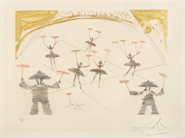 Salvador Dali-Chinois, From Le Cirque (Chinese, From The Circus)-1965