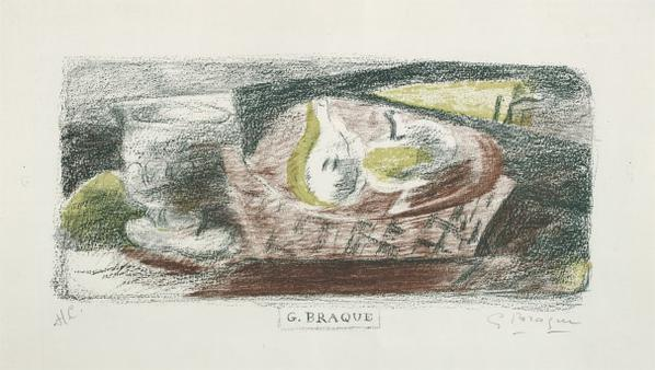 Georges Braque-Nature Morte III (Verre Et Fruits) (Still Life III, Glass And Fruit)-1921