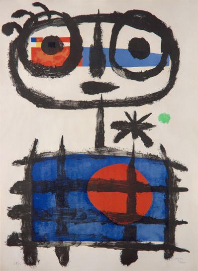 Joan Miro-Mangeur De Soleil (Sun Eater)-1955