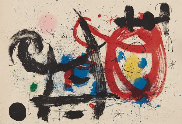 Joan Miro-Le Cheval Ivre (The Drunken Horse)-1964