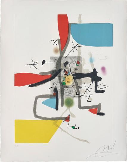Joan Miro-Llibre Dels Sis Sentits (Book Of The Six Senses): Plate I-1981