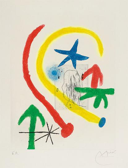 Joan Miro-Chemin De Ronde II (Parapet Walk II)-1966