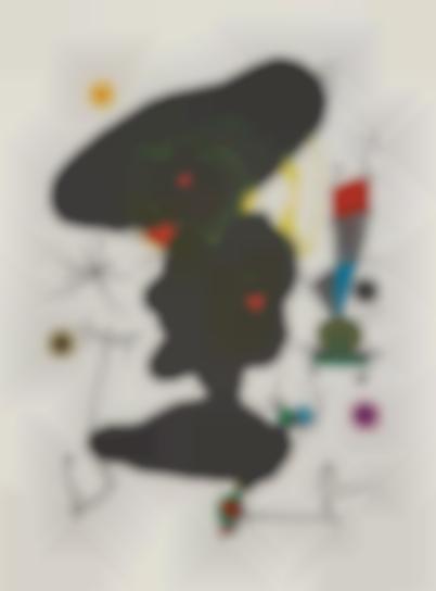 Joan Miro-Oda A Joan Miro (Ode To Joan Miro): Plate V-1973
