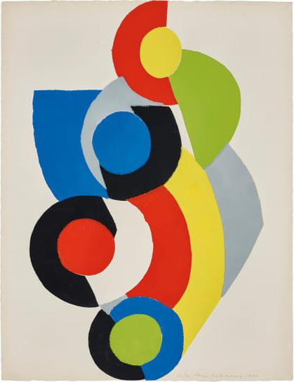 Sonia Delaunay-Poesie De Mots, Poesie De Couleurs (The Poetry Of Words, The Poetry Of Colours): One Plate-1961