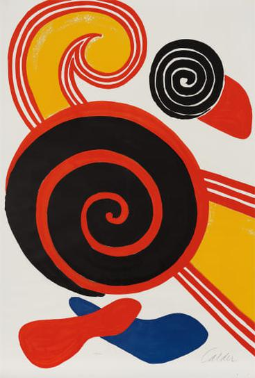 Alexander Calder-Spirales (Spirals)-1969