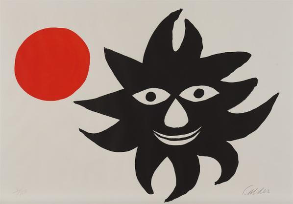 Alexander Calder-Lune Rouge Et Soleil Noir (Red Moon And Black Sun)-1970
