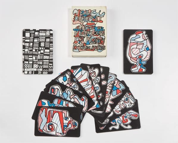 Jean Dubuffet-Algebre De Lhourloupe 52 Figures Extrapolatoires (Hourloupes Algebra, 52 Systematized Cards) [Playing Cards]-1968