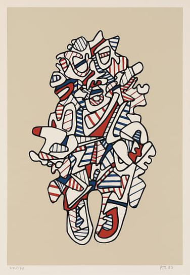 Jean Dubuffet-Objectador, From Presences Fugaces (Objectador, From Fleeting Existences)-1973
