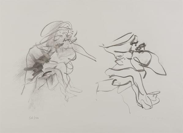 Willem de Kooning-Two Figures-1973