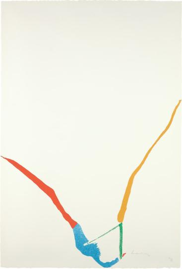 Helen Frankenthaler-What Red Lines Can Do: One Plate-1970