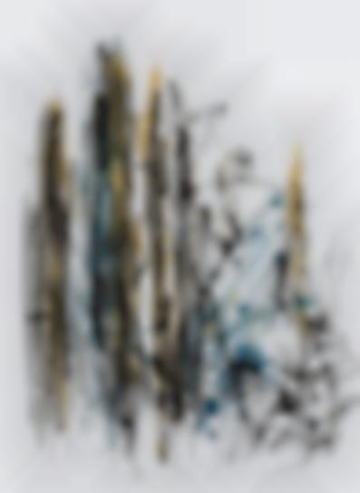 Joan Mitchell-Arbres (Black, Yellow And Blue)-1991